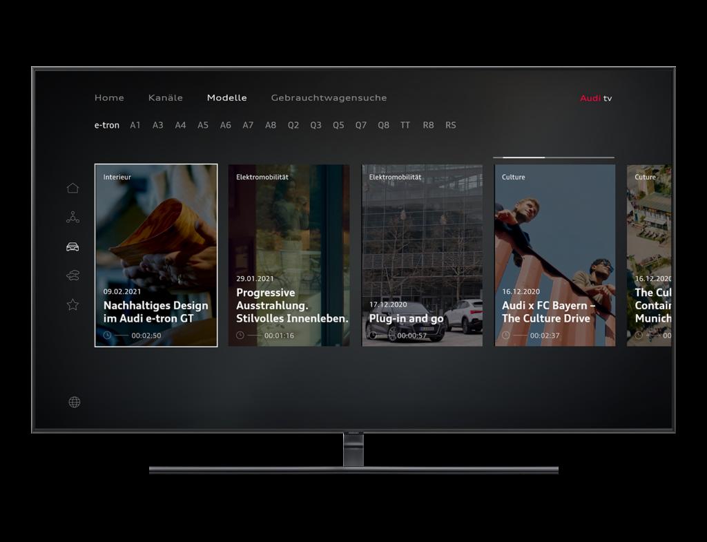 Hero Slider Audi 2021 Smart TV Relaunch