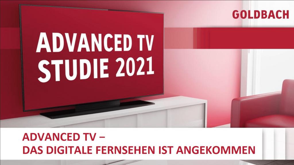 Goldbach advanced tv studie 2021
