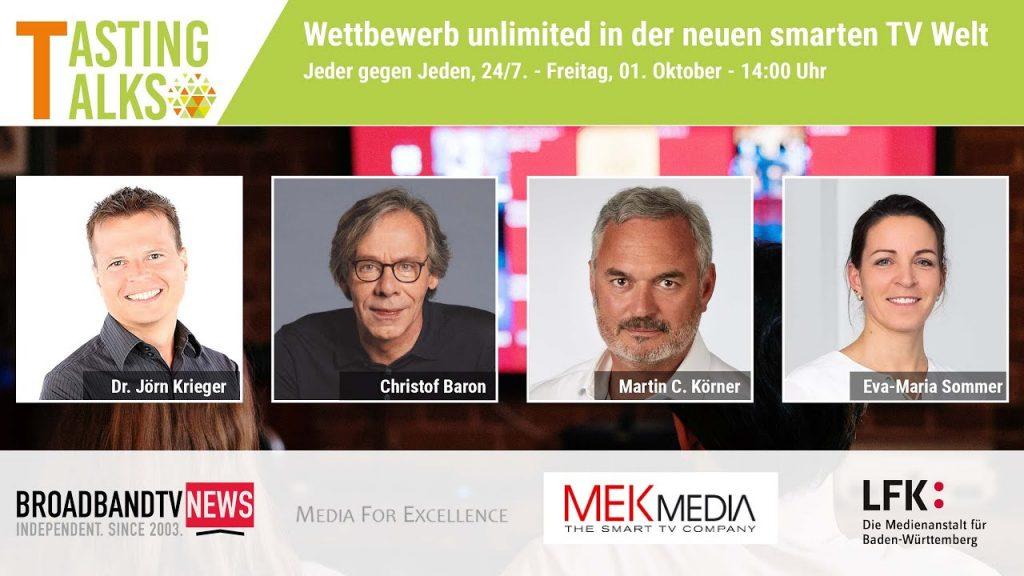 Wettbewerb unlimited in der neuen smarten TV Welt: Jeder gegen Jeden, 24/7 // Tasting Talk #17
